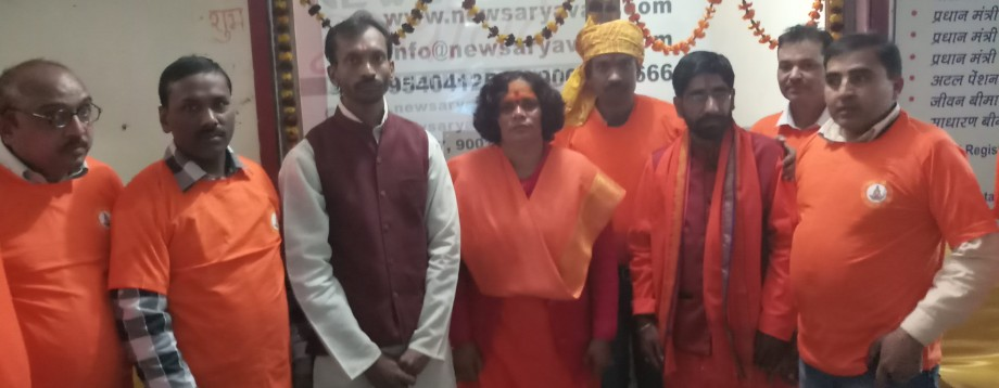 Sadhvi Prachi and Rudra Sena Delhi Team with Ranveer Satyam
